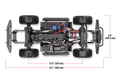 TRX-4-top-chassis-dimensions